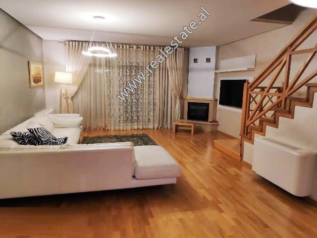 Duplex apartment for rent in Kodra e Diellit Residence in Tirana, Albania (TRR-419-2L)
