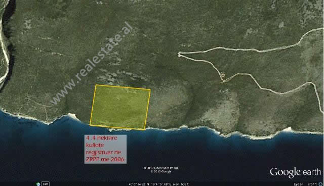 Land for sale on the coast of Gjipe (HRS-819-1S)