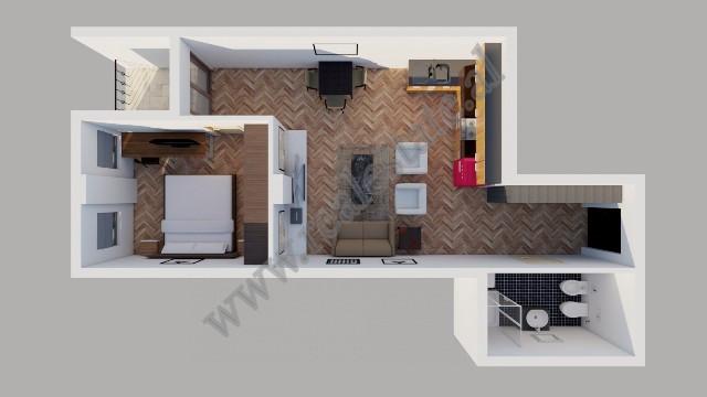 Apartament 1+1 per shitje ne rrugen Peti ne Tirane