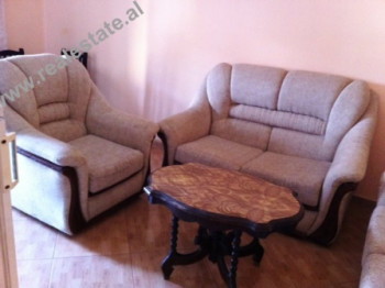 Two bedrooms apartment for rent in Tirana. Although, the flat is situated on the 4th floor of an ol