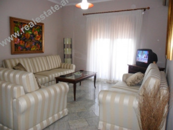 Two bedroom apartment for rent in Tirana. The apartment is situated on the 9th floor of a new build