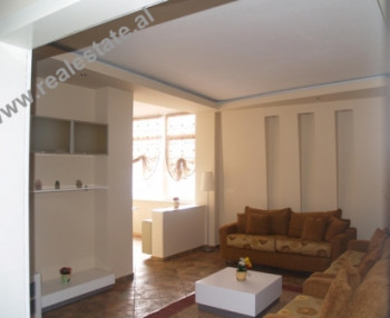 Two bedroom apartment for rent in Mujo Ulqinaku Street in Tirana. This property is situated on the