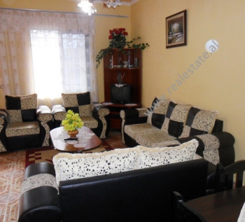 Two bedroom apartment for rent in Hysen Cino Street in Tirana. The flat is situated on the first flo