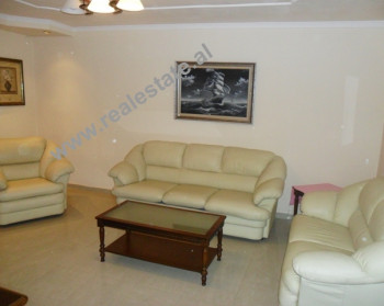Two bedroom apartment for rent in Gjin Bue Shpata Street in Tirana. The apartment is situated on th
