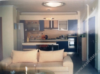 Two bedroom apartment for rent in Blloku area in Tirana. The flat is situated on the 7th floor of a
