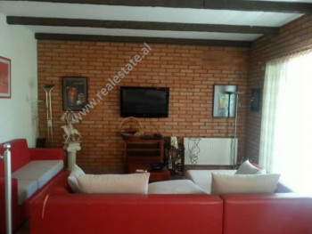 Duplex apartment for rent in Blloku area in Tirana.  The apartment is located in Pjeter Bogdani St