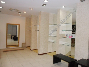 Store space for rent in Fatmir Haxhiu Street in Tirana.