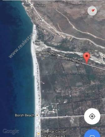 Land for sale in Plazhi 2 Street in Borsh coast in Albania.