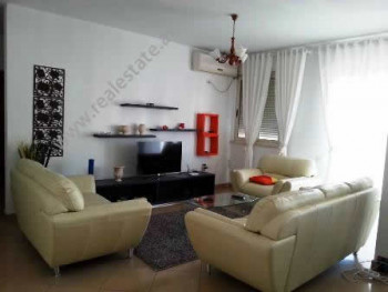 Apartment for rent at the beginning of Nikolla Lena Street in Tirana. It is situated on the 8-th fl