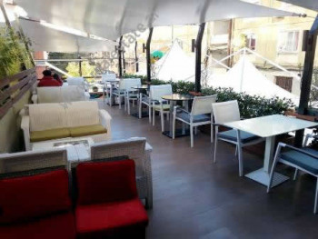 Modern Lounge Bar and Pizzeria for rent in Tirana. It has 400 m2 of total space divided in 2 floors