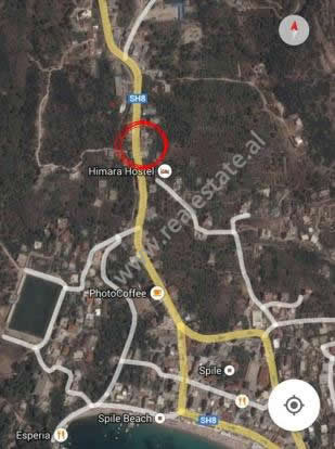 Land for sale near the Himara Municipality. It is located on the side of the main street with direc