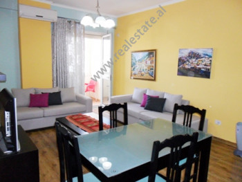 Apartment for rent in Gjergj Fishta Boulevard in Tirana. It is situated on the 5-th floor in a new