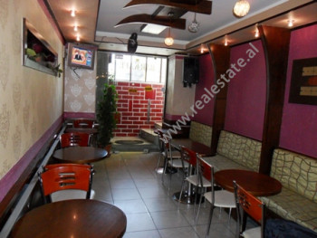 Coffee bar for sale near Adem Jashari Square in Tirana. It is situated on the basement in an old bu