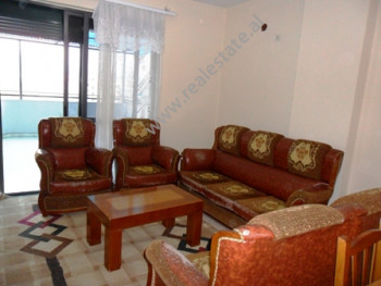 Apartment for rent in Muhamet Gjollesha Street in Tirana. It is situated on the 8-th floor in one b