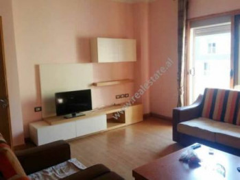 Two bedroom apartment for rent in Don Bosko street, in Tirana. Positioned on the 5th floor of a new