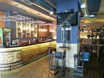 Coffee bar for rent in Pjeter Bogdani Street in Tirana. It is located on the ground floor in a new