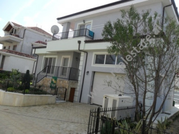 Modern villa for sale near Xhaferr Shaba Street in Tirana. It is located in a new complex, recently