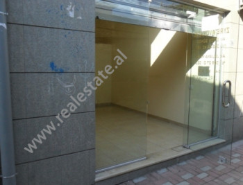 Store for rent at the beginning of Pjeter Budi Street in Tirana.