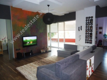 Modern apartment for rent near Shyqyri Brari Street in Tirana. It is situated on the 3-rd floor in