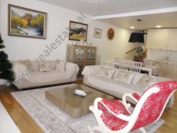 Modern Duplex apartment for rent in Kodra e Diellit Residence in Tirana.