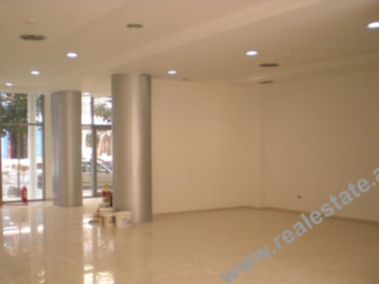 Store space for rent in Bogdaneve Street in Tirana. It is situated on the ground floor in a new bui