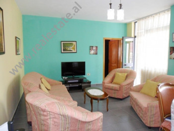 Apartment for rent near 4 Deshmoret Street in Selvia area in Tirana. It is situated on the 9-th flo