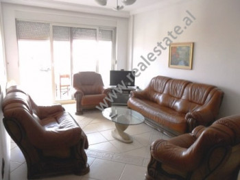 Two bedroom apartment for rent in Brigada VIII Street in Tirana. The apartment is situated on the 5-