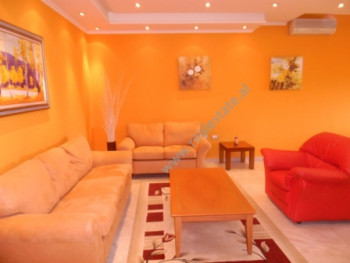 Two bedroom apartment for rent in Dervish Hima Street in Tirana. The apartment is situated on