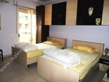 One bedroom apartment for rent close to Avni Rustemi Square. It is situated on the 2-nd floor of a