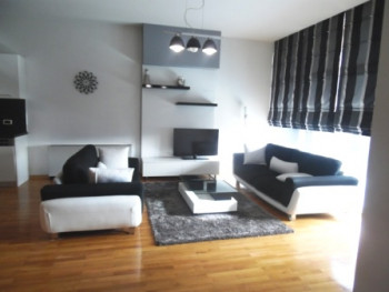 Modern three bedroom apartment for rent in the Bllok area in Tirana.