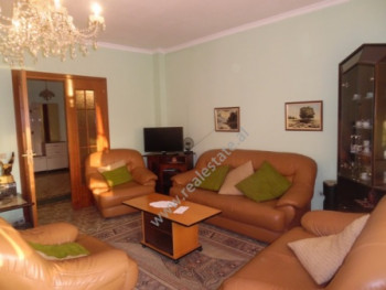 Three bedroom apartment for rent in Blloku area in Tirana. The apartment is situated on the 4th flo