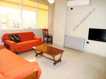 Two bedroom apartment for rent close to Globe Center in Tirana. It is situated on the8-th floor of