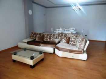 Three bedroom apartment for rent close to center of Tirana. The apartment is situated on 4th floor