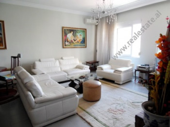 Two bedroom apartment for rent in Ish Blloku area in Tirana. It is situated on the 4-th floor of a