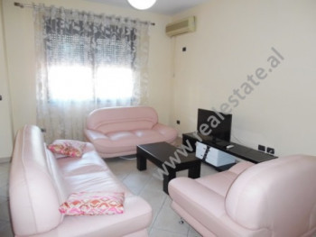Two bedroom apartment for rent in the beginning of Qemal Stafa Street in Tirana. It is situated on