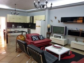 Three bedroom apartment for rent close to Zogu I I Boulevard, in Spiro Dedja Street in Tirana.  Lo