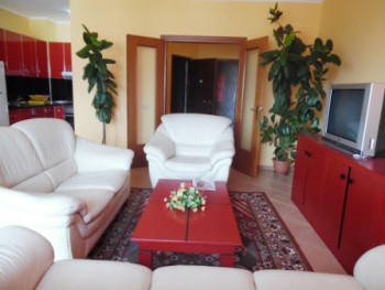 Apartment for rent in Blloku area in Tirana. The apartment is situated on the 8th floor of a new bu