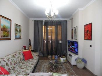 Apartment for rent Close to Rinia Park in Tirana. The apartment is situated on 9th floor of a new b