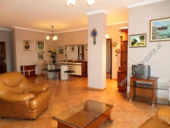 Apartment for rent in Bllok area in Tirana. The apartment is situated on the sixth floor of a new a