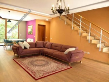 Three storey villa for rent in Lunder area in Tirana. It is located in a complex of villas very pre