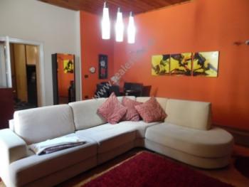 Villa for rent close to Pazari i Ri area in Tirana. The villa has a surface of 200 m2 and veranda w