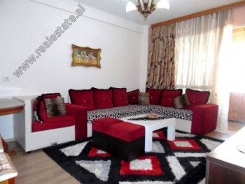 Two bedroom apartment for rent close to the European University in Tirana. It is located on the 5th