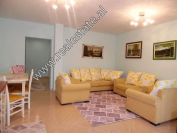 Two bedroom apartment for rent near Muhamet Gjollesha Street in Tirana. It is located on the 5th fl