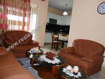 Two bedroom apartment for rent in Frosina Plaku Street in Tirana. The apartment is situated on the