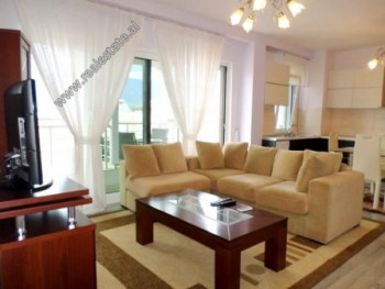 Two bedroom apartment for rent in Peti Sreet in Tirana. The apartment is situated on the fourth flo