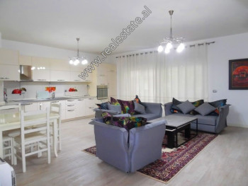 Three bedroom apartment for rent near Perlat Rexhepi Street in Tirana. It is situated on the 2-nd f
