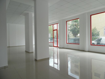 Store space for rent in Gjin Bue Shpata street very close Dinamo stadium in Tirana, Albania.