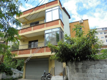 Three storey villa for rent near the Embassies area, in Viktor Hygo street in Tirana, Albania.