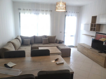 Two bedroom apartment for rent in Karl Topia square in Tirana, Albania. It is located on the sixth