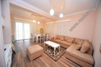 Two bedroom apartment for rent in Touch of Sun Residence in Tirana. It is situated on the 2-nd floo